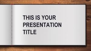 Powerpoint Background Book Free Open Book Powerpoint Template