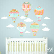 nursery wall decor cute nursery decor using hot air balloon removable wall decals from baby wall nursery wall decor