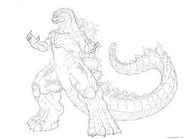 Find more godzilla coloring page. Godzilla Coloring Pages Printable Coloring4free Coloring4free Com