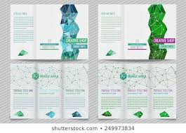Trifold Brochure Size Template Light Vector Design Trifold Brochure Stock Vector Royalty