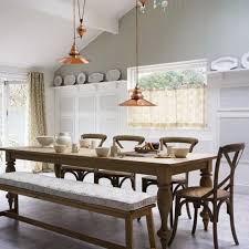 image of narrow dining room table