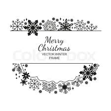black and white snowflake background.  Snowflake Blackwhite Snowflake Frame Decoration On White Background Christmas  Design For Invitation Greeting Card Or Postcard Vector Illustration Merry Xmas  With Black And White Snowflake Background O