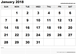 january 2018 calendar free printable january 2018 calendar templates webelator