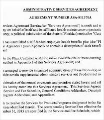 Sample Service Agreements Inspiration Administrative Services Agreement Template 44 Free Sample Example