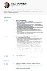 Financial Advisor Resume Samples Visualcv Resume Samples Database