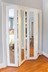 Mirror Closet Doors For Bedrooms Ordinary Wood Sliding Closet Doors For Bedrooms 9 Creative