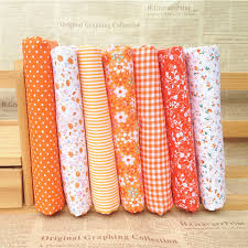 Online Buy Wholesale quilt orange from China quilt orange ... & Hoomall 7Pcs/set 25*25cm Mixed Orange Fabric For Sewing Cloth DIY Patchwork  Quilting Adamdwight.com