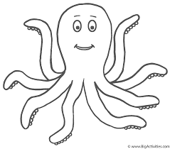 Small Picture Octopus Coloring Page SeaMarine