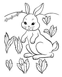 Bunny With Carrot Coloring Pages Crafty Inspiration Ideas Pretty