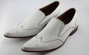 mens white italian leather loafer shoes