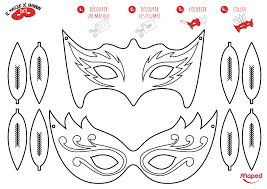 Carnaval Masques Colorier Maped Creatives Masque Loup Coloriage L