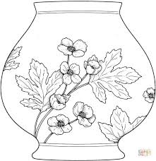 Small Picture Vase With Flowers coloring page Free Printable Coloring Pages
