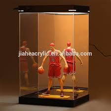 plexiglass acrylic glass led light box display case for action figure display