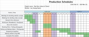 Production Gantt Chart Template Bakery Production Schedule Template Excel Post Production