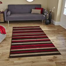 think modern rugs matrix mt22 brown red