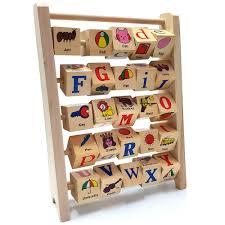 Đồ chơi thông minh bảng lật 4 mặt học chữ cái và tiếng anh bằng gỗ đẹp cho  bé, Giá tháng 11/2020