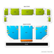 Arcadia Theater Seating Chart Arcada Theatre Tickets