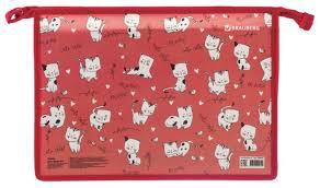 <b>BRAUBERG Папка для труда</b> с молнией сверху А4 Коты — купить ...
