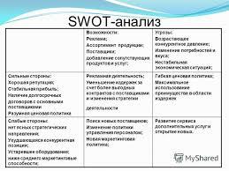 Презентация на тему Курсовой проект по дисциплине управленческие  8 swot анализ