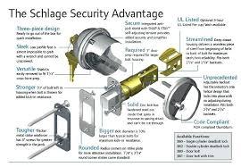 Schlage Door Knob Parts T Lock High Security Cylinder For Arrow Knob