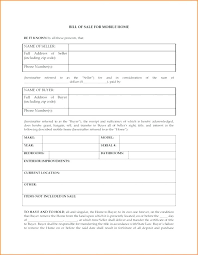 Bill Of Sale Form Mobile Home Hittrans Co