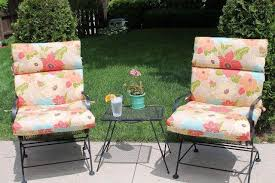 image of high back outdoor chair cushion 2 pack