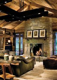 rustic country living room furniture. Apartments : Kitchen Rustic Country Living Room With Natural Stone Fireplace Decorating Ideas Also Leather Coated Sofa Black Wood Beam Ce For Mantels Furniture