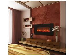 Wall-mount electric fireplace .