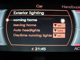 Audi Coming Home Lights Comin Leaving Home Function Audi A5 Forum Audi S5 Forum