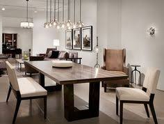 salle à manger contemporary dining room love the modern wood dining table the chandelier ligh
