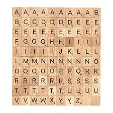 Wooden Game Pieces Bulk Amazon 100 Scrabble Tiles Letters Word Alphabet Wooden Board 66