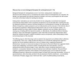 discuss two or more biological therapies for schizophrenia a document image preview