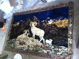 details about mountain goat throw blanket or rug 5 x 7 western decor wall hanging art