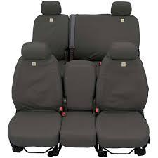 covercraft rear seat cover seatsaver carhartt gravel 60 40 split bench seat 4 door
