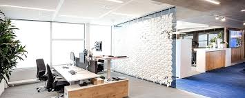 office separator. Hanging Room Divider In Large Office Wall Screen Mount Facet Separator