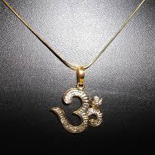 om diamond pendant in 14 kt gold from facetz gold pendants home18