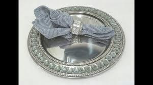 diy bling plate and napkin ring holder decor