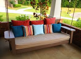 ... Fetching Images Of Wooden Swings For Your Inspiration : Exquisite Front  Porch Decoration Using Hanging Solid ...