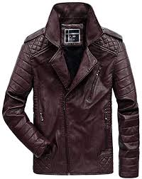 huixin men s leather jacket winter vintage apparel jacket long leather motorcycle sleeve faux fur stand collar