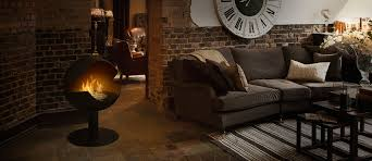 vauni globe a black ethanol fireplace