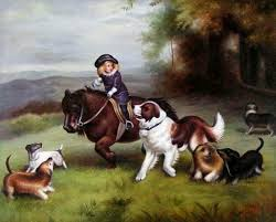 hand painted animal oil painting play with dogs find this pin and more on charles burton barber