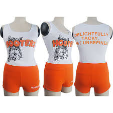Womens Girl Hooters Uniform Sexy Bar Maid Shorts Tank Top