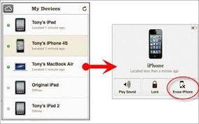 reset iphone password icloud