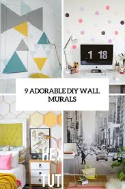Diy Artwork For Walls 9 Adorable And Easy To Make Diy Wall Murals Shelterness