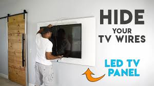 Lights To Put Behind Tv How To Make A Tv Panel Wall Mount A Tv And Hide The Wires