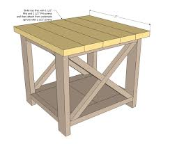 Free Woodworking Furniture Plans Ana White Build A Rustic X End Table Free And Easy Diy Project