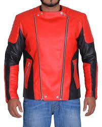 men red and black biker jacket motorcycle jacket biker jacket