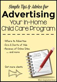 advertising your family child care program where imagination grows advertising your family child care program