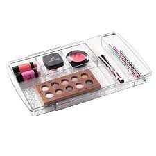 mdesign expandable makeup organizer for bathroom drawers vanities countertops organize makeup brushes eyeshadow palettes lipstick lip gloss blush