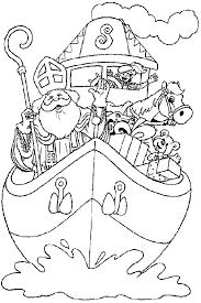 Kleurplaat Sinterklaas Kleurplaat Sinterklaas Stoomboot Animaatjesnl